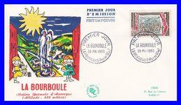 1256 (Yvert) Sur Enveloppe Premier Jour (PJ) - Station Thermale De La Bourboule - France 1960 - FDC