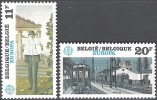 Belgique 1983 COB 2092 - 2093 Neuf ** Cote (2016) 4.60 Euro Europa CEPT Peintures De Paul Delvaux - Belgio