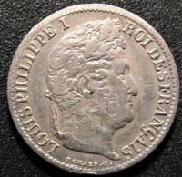 1/2 Franc 1841 B, Louis Philippe,TTB/SUP - Francia