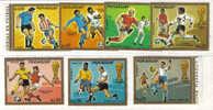 SS1176 - PARAGUAY , L' Emissione Di 7 Valori Per I Mondiali 1974 - Coppa Del Mondo
