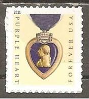 USA. Scott # 4529 MNH. Purple Heart SSP Printer  2011 - Nuevos