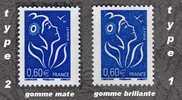 LAMOUCHE 0.60 €  Type I + Type II - Variétés: 2000-09 Neufs