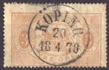 Suède - 1874-96 - Y&T N° S 1 B (dent 14) Oblitéré - Service