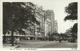 PC / AK Brasilien Brazil Rio De Janeiro Av. Rio Branco Bus Oldtimer ~1930 #34 - Rio De Janeiro