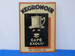 """Publicité Métal """"CAFE NEGRONOIR"""" - Café & Thé"""