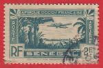 1935 - France - Afrique A.O.F - Sénégal - Aérien Type A  - 2 Frs Bleu - - Poste Aérienne
