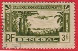 1935 - France - Afrique A.O.F - Sénégal - Aérien Type A  - 3 Frs Vert - - Sénégal (1887-1944)