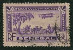 1935 - France - Afrique A.O.F - Sénégal - Aérien Type B  - 3.50 Frs Violet - - Poste Aérienne