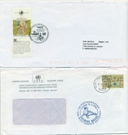 United Nations Unies Austra 1992 2000 3 FDC & Cover - FDC
