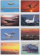 LOT 2 -  8 TELECARTES Japon NTT - AVION - AIRPLANE Japan Phonecards - Flugzeug Telefonkarten - 172 - Japan