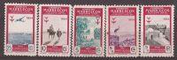 MA394-LT1TTSC.Maroc.Marocco .MARRUECOS ESPAÑOL..Lote PRO TUBERCULOSOS.1954.(Ed 394/9**) Sin Charnela MUY BONITA - Transporte