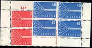 Switzerland #363-64 Mint Never Hinged Europa Blocks Of 4 From 1957 - Zwitserland