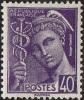 France - N°  413 * TYPE MERCURE - 40 Centimes Violet - France