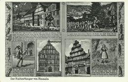AK Hameln Mehrbild Rattenfänger & Sagentext ~1939 #01 - Fiabe, Racconti Popolari & Leggende