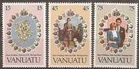 VANUATU - 1981 Royal Wedding. Scott 308-10. MNH ** - Vanuatu (1980-...)