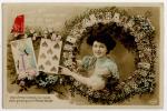 Diseuse Bonne Aventure Tireuse Carte Jouer Voyance Fantaisie 1910 - Non Classificati
