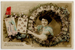 Diseuse Bonne Aventure Tireuse Carte Jouer Voyance Fantaisie 1910 - Postkaarten