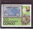 Yv.545 - Timbre Sur Timbre - Train - Congo - Brazzaville