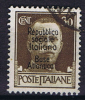 Italy 1942 Michel Nr 40 R.S.I..Base Atlantica.30c, Used - 4. 1944-45 Sozialrepublik