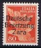 ZARA - 1943-DEUTSCHE BESETZUNG Michel Nr 26 Unused (*)  SG No Gum