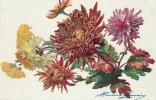 Jolie Carte Fantaisie Fleurs - DAHLIAS - Edit. LAPINA - Fleurs, Plantes & Arbres