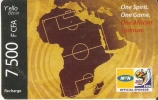 TARJETA DE BENIN DE 7500 FCFA - CAMPO DE FUTBOL -MUNDIAL SUDAFRICA 2010 - Sport