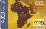 TARJETA DE BENIN DE 4000 FCFA - CAMPO DE FUTBOL -MUNDIAL SUDAFRICA 2010 - Sport