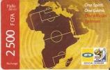 TARJETA DE BENIN DE 2500 FCFA - CAMPO DE FUTBOL -MUNDIAL SUDAFRICA 2010 - Sport