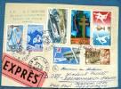 FRANCE: Lettre Au Tarif Expres Avec Affranchissement Mixte Pour L'ALLEMAGNE. Cachet D'arrivée Au Dos - Marcofilie (Brieven)