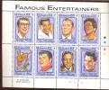 GAMBIA  1395 MINT NEVER HINGED MINI SHEET OF ELVIS PRESLEY +++++ENTERTAINERS  ( - Elvis Presley