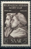 Germany SAAR 1951 Sc B83 MI 308 MNH John Calvin And Martin Luther - Unclassified