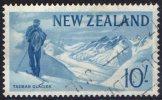 New Zealand 1960 Pictorials 10s Tasman Glacier Used  SG 801 - Actual Stamp - Unclassified