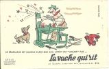BUVARD N° 6  - LA VACHE Qui Rit -  Les Métiers - Le Rémouleur Est Heureux Parce Que .... - Alimentaire