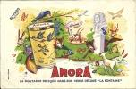 """BUVARD - AMORA - La Moutarde De Dijon Dans Son Verre Décoré """"La Fontaine"""" - Alimentaire"""