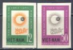 2298.1 Space Astronomy 1964 Vietnam North 2v Set MNH ** Imperf Imp 17ME - Asia
