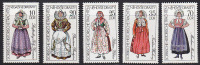 Série Complète RDA - COSTUME Costumes / YT 1886-90 - Folklore Stamps - TRACHT Briefmarken - 04 - Kostüme
