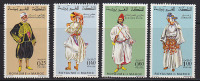 Série Complète MAROC - COSTUME Costumes - YT 565/8 - MOROCCO Folklore Stamps - TRACHT Briefmarken - 05 - Kostums