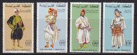 Série Complète MAROC - COSTUME Costumes - YT 565/8 - MOROCCO Folklore Stamps - TRACHT Briefmarken - 05