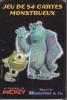Jeu De Cartes De 54 Cartes Monstres & Cie Walt Disney Pixar Jeu De Cartes Monstrueux Du Journal De Mickey - Pubblicitari