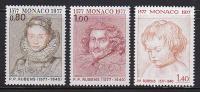 Série Complète MONACO - YT 1098/1100 - 3 Valeurs RUBENS - Painting Stamps Series - Kunst Briemarken - Rubens
