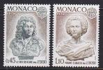 Série Complète MONACO - YT 957/8 - 2 Valeurs Roi De Rome & Mme Elisabeth - Stamps Series - Mónaco