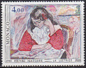 Timbre MONACO -  YT 1243 - Peinture MATISSE - Painting Stamp - Kunst Briefmarke