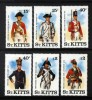ST KITTS - 1987 MILITARY UNIFORMS 3RD SERIES (6V) MNH ** - St.Kitts And Nevis ( 1983-...)
