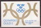 Sweden, Sverige, 1991, Olympic Gold, Booklet H417, MH161, ***, MNH - Boekjes