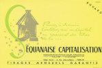 BU 703/BUVARD  LA SEQUANAISE  CAPITALISATION - Bank & Insurance