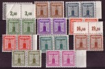 DR Dienst Minr.155-165 Postfrisch Paare - Dienstpost