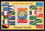 Solomon Islands Scott #449 MNH Souvenir Sheet South Pacific Games 1981 - Salomon (Iles 1978-...)