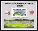 Solomon Islands Scott #626 MNH Souvenir Sheet Seoul Olympics - Salomon (Iles 1978-...)