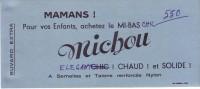 BUVARD - MICHOU - ACHETEZ LE MI-BAS.... - Carte Assorbenti