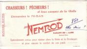 BUVARD - NEMROD - CHASSEURS ! PÊCHEURS ! Demandez  Le MI-BAS.... - Buvards, Protège-cahiers Illustrés